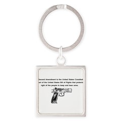 The Second Amendment Square Keychain