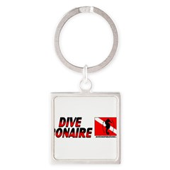 Dive Bonaire (red) Square Keychain