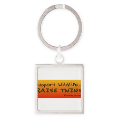 Support Wildlife - Raise Twin Square Keychain
