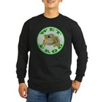 Wet Pond Frog Long Sleeve Black T-Shirt