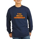 Already Supersized Long Sleeve Blue T-Shirt