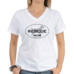 Rescue MOM Women's V-Neck T-Shirt