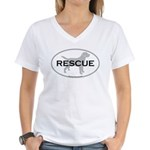 RESCUE Women's V-Neck T-Shirt