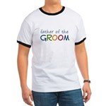 Father of the Groom Rainbow Ringer T