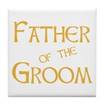 Sherbet Father of the Groom Tile Coaster
