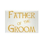 Sherbet Father of the Groom Rectangle Magnet (10 p