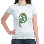 Green Dragon Women's Pink Ringer T-Shirt