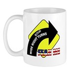 """Wide Right """"Wing"""" Turns Mug"""