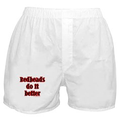 """Redheads do it better"" Boxer Shorts"
