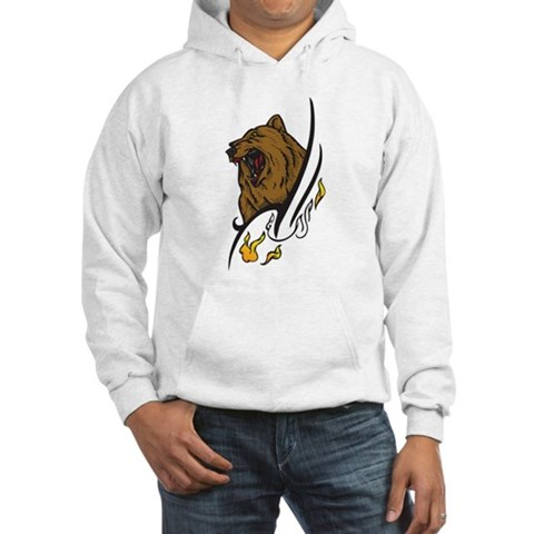 CafePress > Sweatshirts & Hoodies > Tattoo Bear Hooded Sweatshirt. Tattoo Bear Hooded Sweatshirt