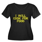 Will Cook For Food Women's Plus Size Scoop Neck Dk