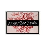 Pink Toile World's Best Mother Mom Rectangle Magne