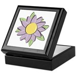 Purple Cartoon Flower Spring Keepsake Box