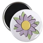 "Purple Cartoon Flower Spring 2.25"" Magnet (100 pac"