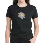 Purple Cartoon Flower Spring Women's Dark T-Shirt