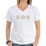 Cool Mod Mom Dots Mother's Day Women's V-Neck T-Sh