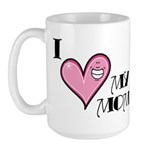I Love Heart My Mom Mother's Day Large Mug