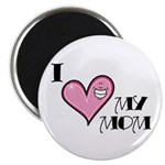 "I Love Heart My Mom Mother's Day 2.25"" Magnet (10"