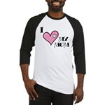 I Love Heart My Mom Mother's Day Baseball Jersey