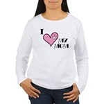 I Love Heart My Mom Mother's Day Women's Long Slee