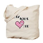 My Kids Love Heart Me Mom Teacher Tote Bag