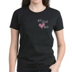 My Kids Love Heart Me Mom Teacher Women's Dark T-S