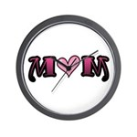 Tattoo Mom Pink Heart Mother's Wall Clock