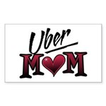 Uber Mom Mother's Day Heart Rectangle Sticker