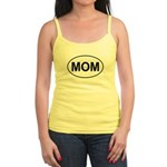 Mom European Oval Mother's Day Jr. Spaghetti Tank