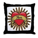Red Heart Tattoo Mom Mother Throw Pillow