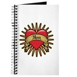 Red Heart Tattoo Mom Mother Journal