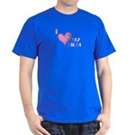 I Love Heart My Mom Mother's Pink Dark T-Shirt
