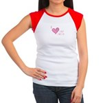 I Love Heart My Mom Mother's Pink Women's Cap Slee