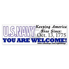 US NAVY Keeping America Free Sticker (Bumper)