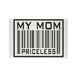My Mom Priceless Barcode Rectangle Magnet