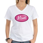 Pink Mom is my Idol Logo Women's V-Neck T-Shirt