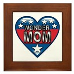 Heart Wonder Mom Mother's Framed Tile