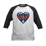 Heart Wonder Mom Mother's Kids Baseball Jersey