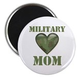 Military Mom Camouflage Camo Heart Magnet