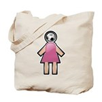 Pink Soccer Mom Cute Girl Art Tote Bag