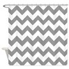 Gray White Chevron Shower Curtain
