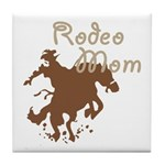 Rodeo Mom Wester Cowboy Cowgirl Tile Coaster