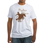 Rodeo Mom Wester Cowboy Cowgirl Fitted T-Shirt