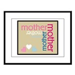 Mother Plaque with Hearts Mother's Large Framed Pr