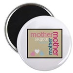 """Mother Plaque with Hearts Mother's 2.25"""" Magnet (1"""