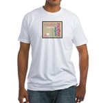 Mother Plaque with Hearts Mother's Fitted T-Shirt