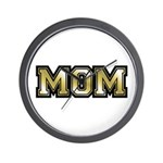 Golden Mom Name Gold Letters Wall Clock