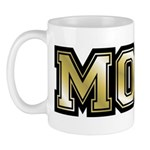 Golden Mom Name Gold Letters Mug