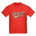 Baseball Swoosh Mom Mother's Kids Dark T-Shirt