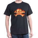 Mardi Gras Red Skull Dark T-Shirt